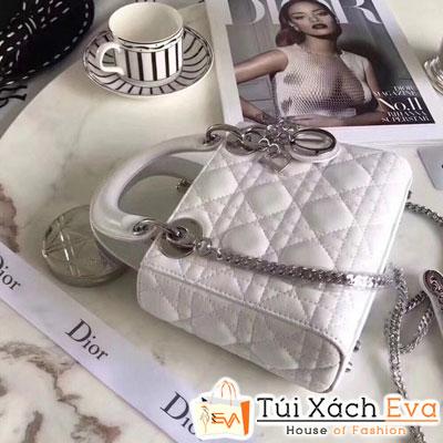 Túi Xach Dior Lady Super Da Lì Khóa Bạc Đẹp