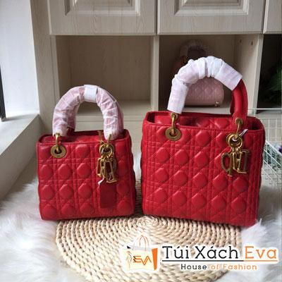 Túi Xách Dior Lady Super  Màu Đỏ