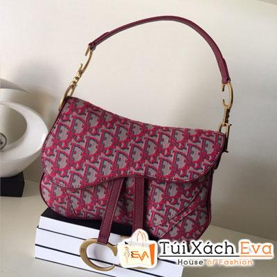 Túi Xách Dior Obique Siêu Cấp Vải Màu Cam Đỏ