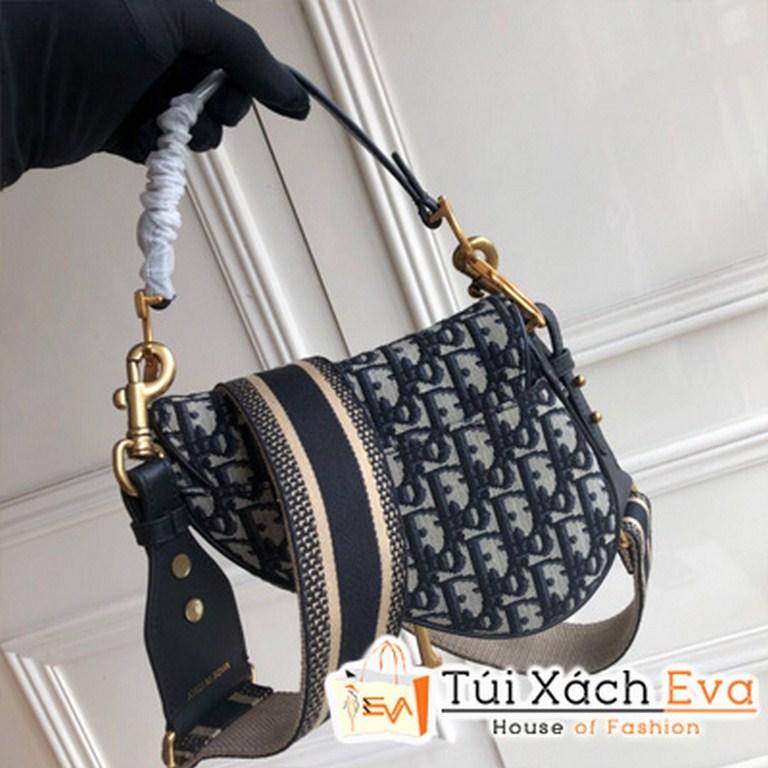 Túi Xách Dior Oblique Saddle Bag Siêu Cấp Màu Xanh