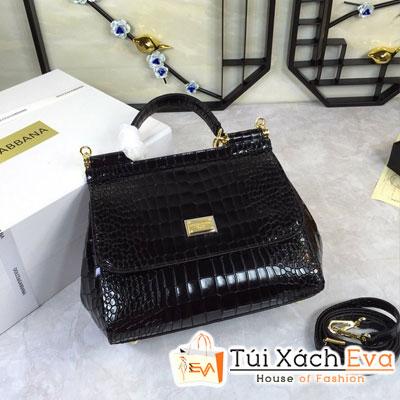 Túi Xách Dolce & Gabbana Super Da Cá Sấu Màu Đen
