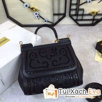 Túi Xách Dolce & Gabbana Super Màu Đen Hoa Văn