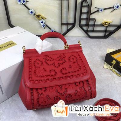 Túi Xách Dolce & Gabbana Super Màu Đỏ Hoa Văn