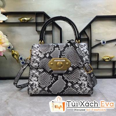 Túi Xách Dolce & Gabbana Super Màu Xám Da Rắn