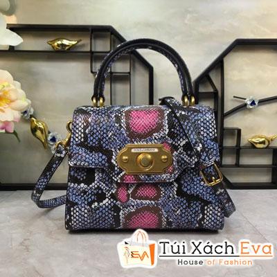 Túi Xách Dolce & Gabbana Super Màu Xanh Dương Da Rắn