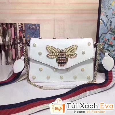 Túi Xách Gucci Broadway Bee Siêu Cấp Màu Trắng Đẹp