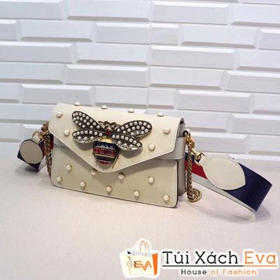 Túi xách Gucci Broadway Leather Mini Đính Ngọc Khoa Bac