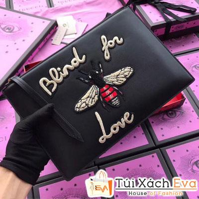 Túi Xách Gucci Clutch Super Bee Da Lì Đẹp