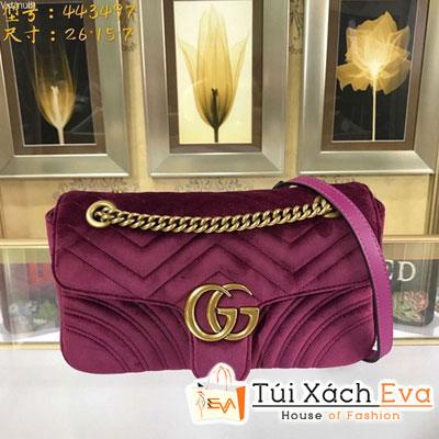 Túi Xách Gucci Gg Marmont Siêu Cấp Nhung Màu Tím