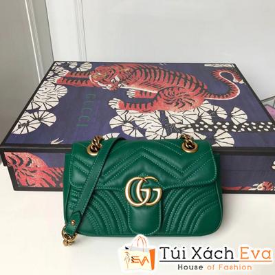 Túi Xách Gucci Marmon Siêu Cấp Màu Xanh Lá