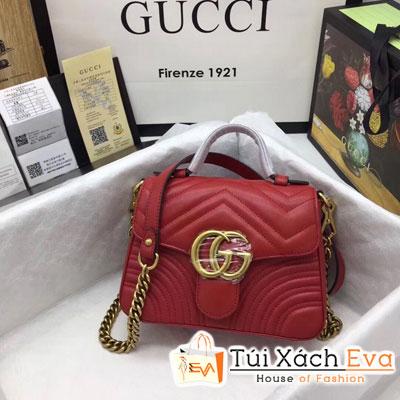 Túi Xách Gucci Marmont Logo Gucci Siêu Cấp Một Quai Xách Màu Đỏ