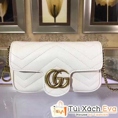 Túi Xách Gucci Marmont Mini Siêu Cấp Màu Trắng