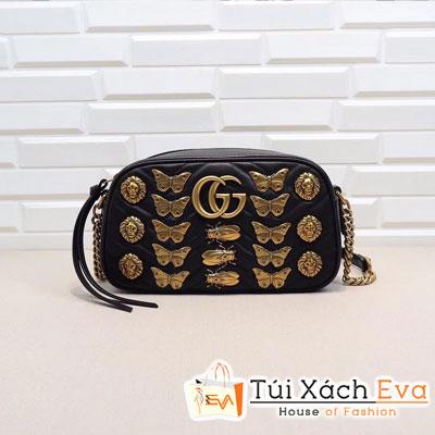 Túi Xách Gucci Marmont Siêu Cấp Côn Trùng Màu Đen