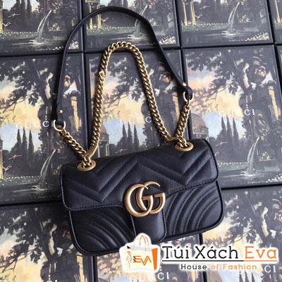 Túi Xách Gucci Marmont Siêu Cấp Màu Đen