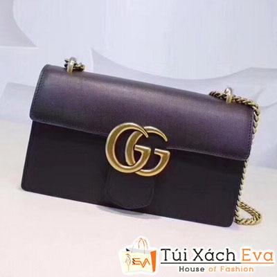Túi Xách Gucci Marmont Siêu Cấp Nắp Gập Màu Đen Đẹp