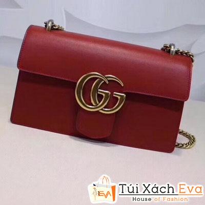 Túi Xách Gucci Marmont Siêu Cấp Nắp Gập Màu Đỏ Đẹp