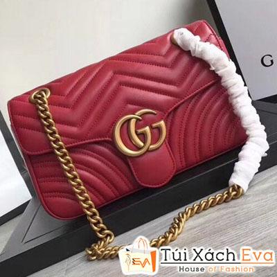 Túi Xách Gucci Marmont  Siêu Vip Màu Đỏ