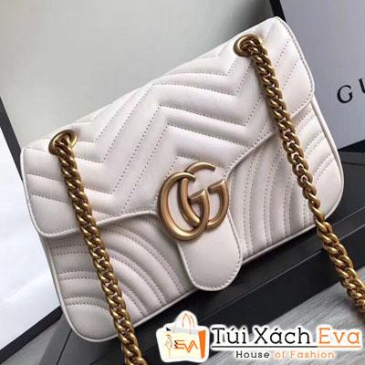 Túi Xách Gucci Marmont  Siêu Vip Màu Trắng