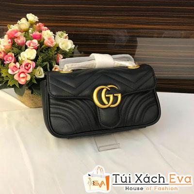 Túi Xách Gucci Marmonti Siêu Cấp Logo Màu Đen