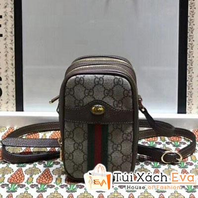 Túi Xách Gucci Ophidia GG Mini Bucket Bag Siêu Cấp Đeo Chéo Màu Nâu  550620