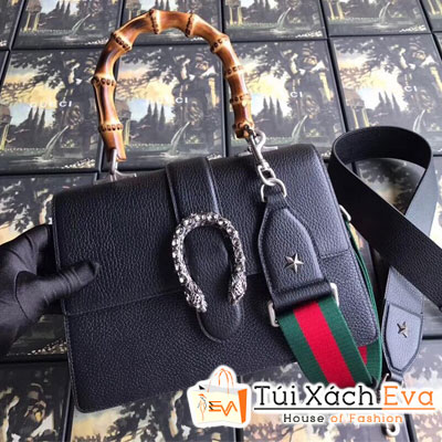 Túi Xách Gucci Quai Trúc Siêu Cấp Màu Đen Khóa Đầu Rắn 448075