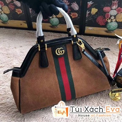 Túi Xách Gucci RE(BELLE) Medium Top Handle Bag Siêu Cấp Màu Nâu  516459