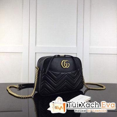 Túi Xách Gucci Siêu Cấp Bầu Một Khóa Kéo Màu Đen