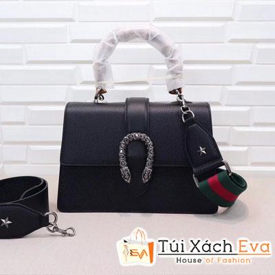 Túi Xách Gucci Siêu Cấp Khóa Đầu Rắn Màu Đen