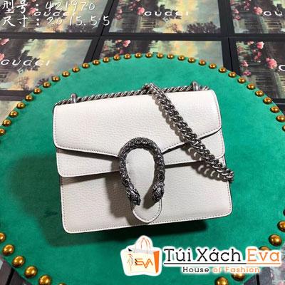 Túi Xách Gucci Siêu Cấp Khóa Đầu Rắn Màu Trắng 421970