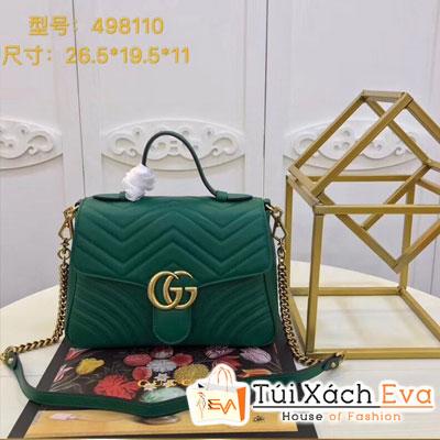 Túi Xách Gucci Siêu Cấp Logo Gucci Màu Xanh Lá