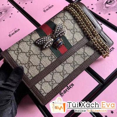 Túi Xách Gucci Siêu Cấp Nắp Gập Khóa Con Ong