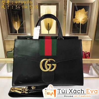 Túi Xách Gucci Siêu Cấp Vải Sọc Màu Đen