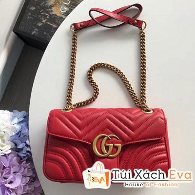 Túi Xách Gucci marmont Siêu Vip Logo Gucci  Màu Đỏ