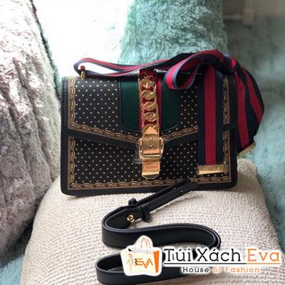 Túi Xách Gucci marmont Super Sọc Màu Đen
