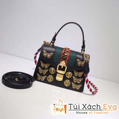 Túi Xách Gucci Sylvie Animal Studs Leather Mini Bag Siêu Cấp 470270