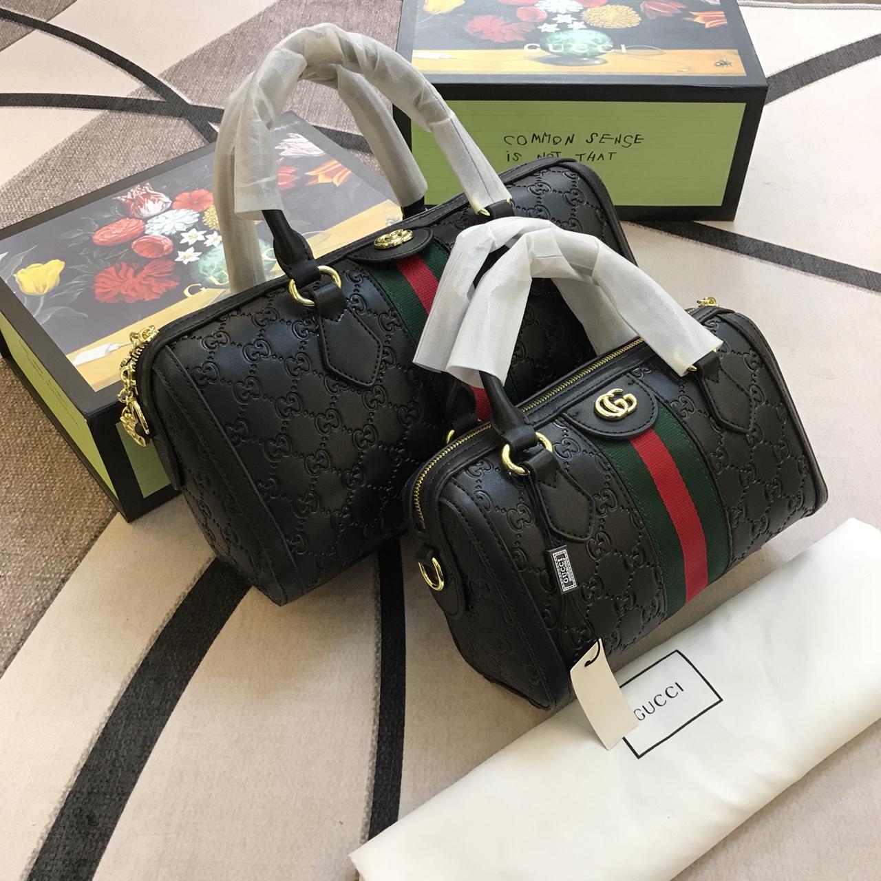 Túi Xách Gucci Trống Super Sale Màu Đen Sz 32,22Cm