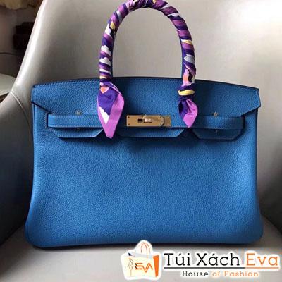 Túi Xách Hermes Birkin Siêu Vip Màu xanh Đẹp