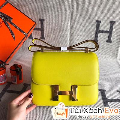 Túi Xách Hermes Constance Siêu Cấp Da Epsom Màu Vàng