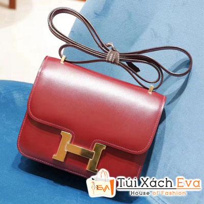 Túi  Xách Hermes Constance Siêu Cấp  Màu Đỏ Đô