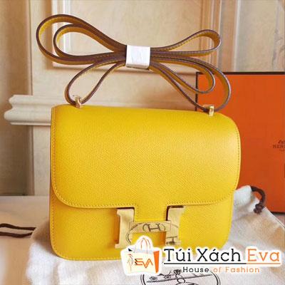 Túi  Xách Hermes Constance Siêu Cấp  Màu Vàng Khóa Vàng