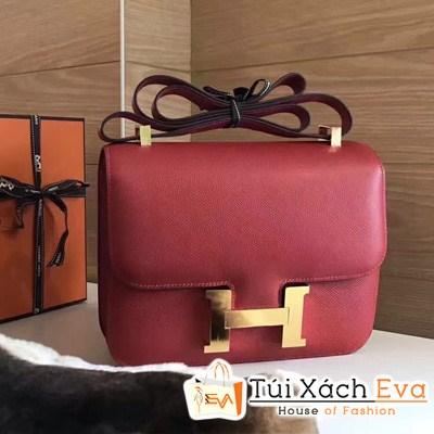 Túi Xách Hermes Constance Super Khóa H Màu Đỏ