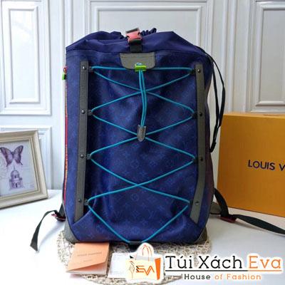 Túi Xách Lv Backpack Outdoor Siêu Cấp Màu Xanh Dương