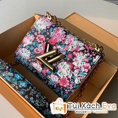 Túi Xách Lv Floral Print Twist PM Chain Shoulder Bag Siêu Cấp M55038