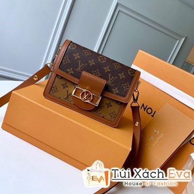 Túi Xách Lv  Mini Dauphine Siêu Cấp Hoa Nâu M44580