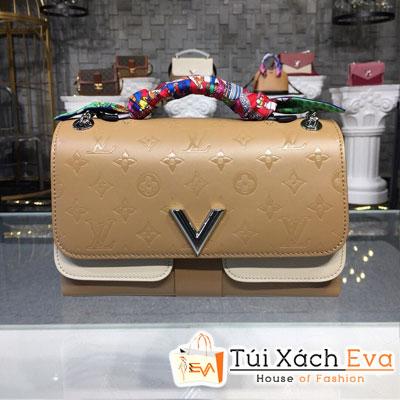 Túi Xách Lv Very Chain Siêu Cấp Màu Kem M44233