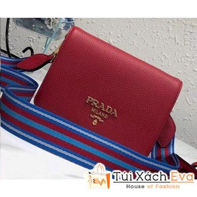 Túi Xách Prada Calf Leather Shoulder Bag Siêu Cấp Màu Đỏ 1BD102