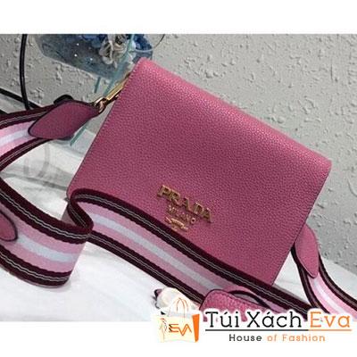 Túi Xách Prada Calf Leather Shoulder Bag Siêu Cấp Màu Hồng 1BD102