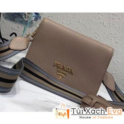 Túi Xách Prada Calf Leather Shoulder Bag Siêu Cấp Màu Nâu1BD102