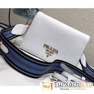 Túi Xách Prada Calf Leather Shoulder Bag Siêu Cấp Màu Trắng 1BD102
