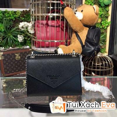 Túi Xách Prada Monochrome Saffiano Bag Siêu Cấp Màu Đen 1BD127